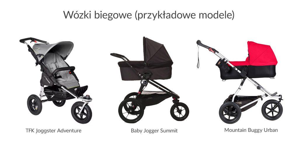 wózki dziecięce biegowe - przykładowe modele