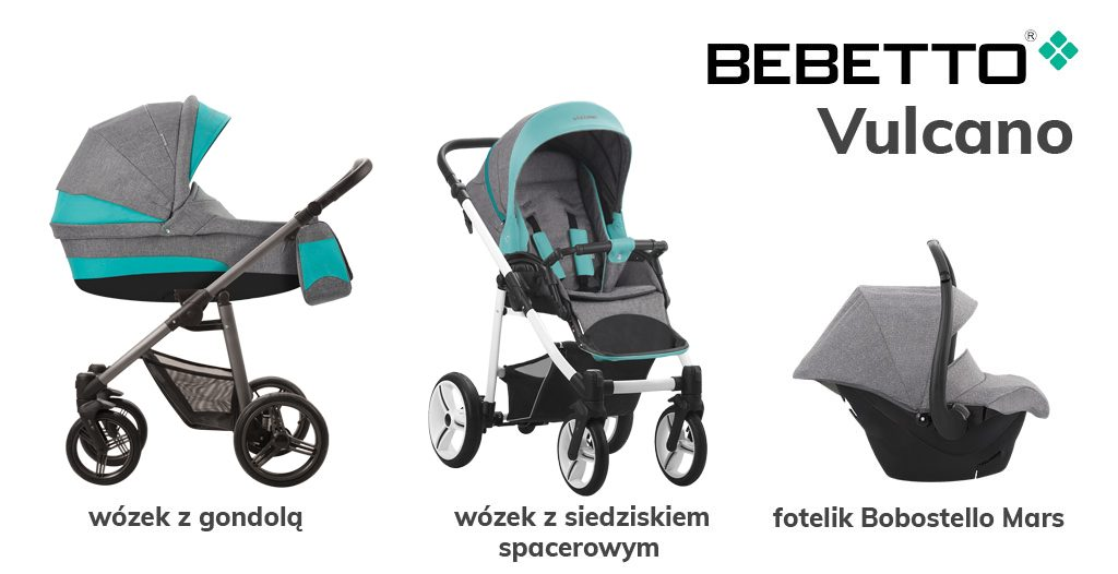 jaki wózek 3w1 do 1500 zł - Bebetto Vulcano