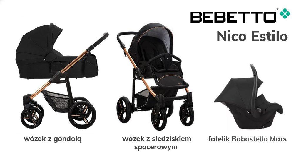 Jaki wózek 3w1 do 1500 zł - Bebetto Nico Estilo