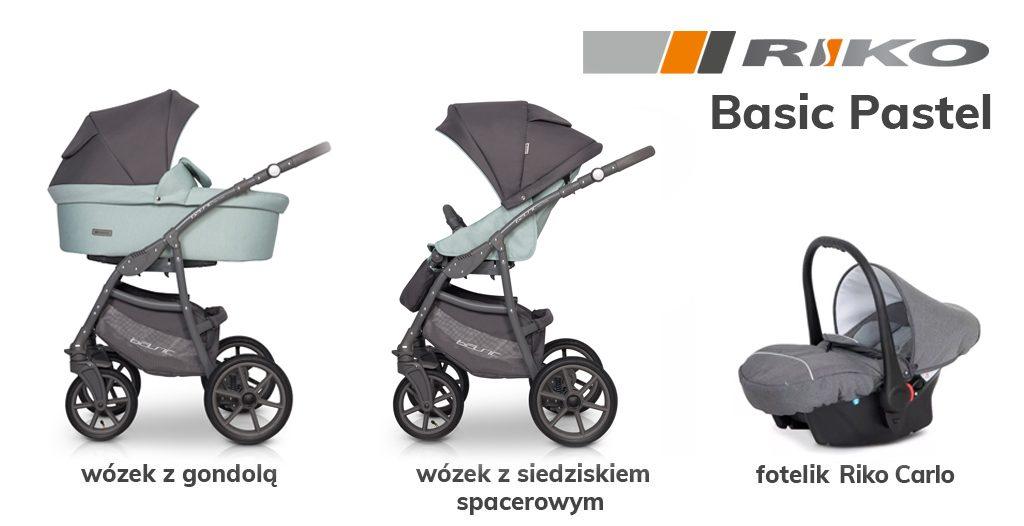 jaki wózek 3w1 do 1500 zł - Riko Basic Pastel