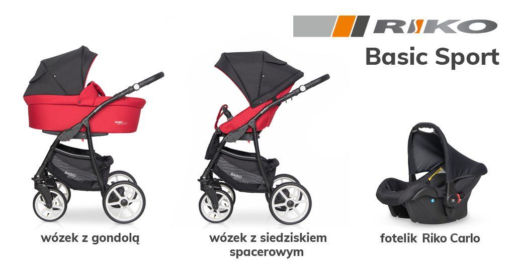 jaki wózek  3w1 do 1500 zł - Riko Basic Sport