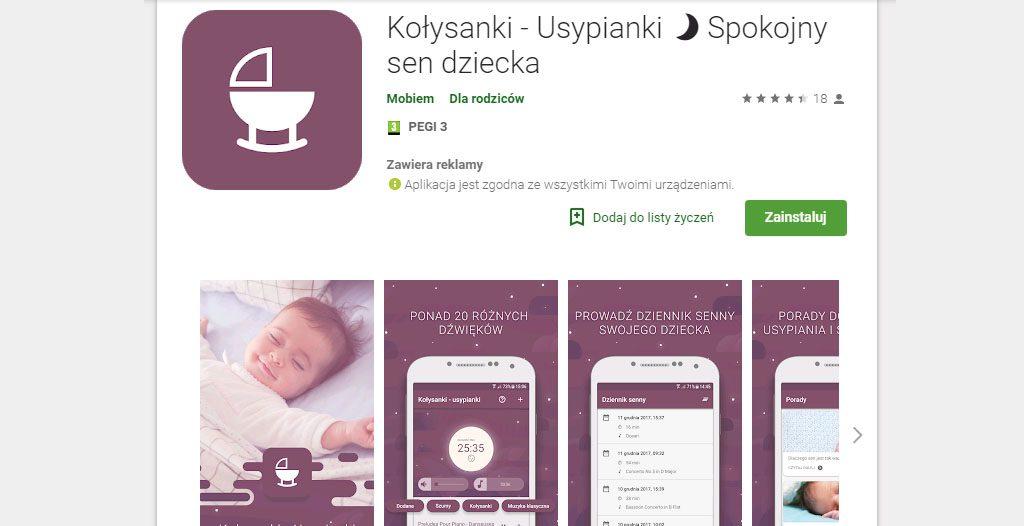 aplikacje do usypiania dziecka