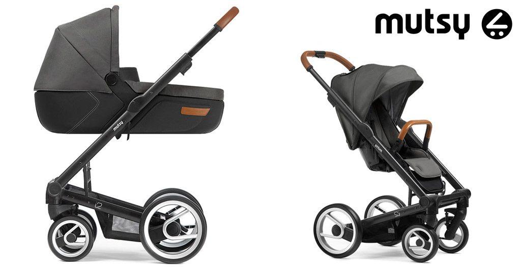 szare wózki wielofunkcyjne - mutsy i2 urban nomad dark grey