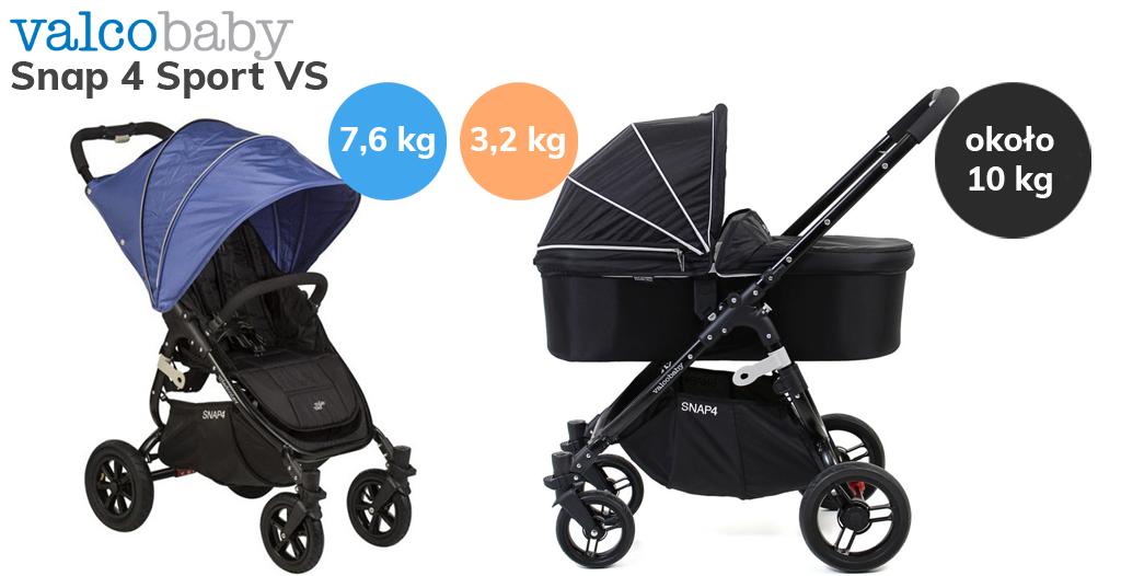 Jaki wózek do bloku bez windy - Valco Baby Snap 4 Sport VS z gondolą