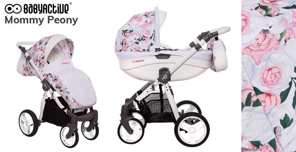 wózki dziecięce w kwiaty - BabyActive Mommy Peony - Sklep-Smile.pl