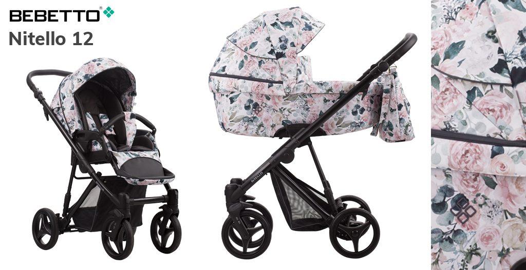 wózki dziecięce w kwiaty - Bebetto Nitello - Blog - sklep-smile.pl