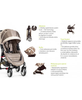 Baby Jogger City Mini 4+GRATIS