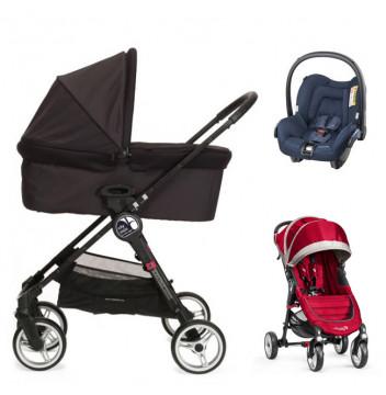 Baby Jogger City Mini 4W+gondola+fotelik (do wyboru)