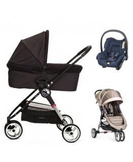 Baby Jogger City Mini+gondola+fotelik (do wyboru)