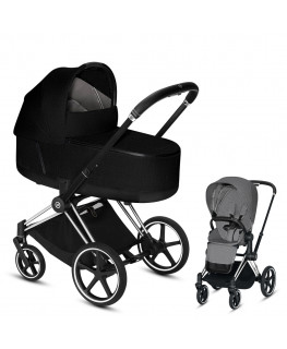 Cybex Priam 2.0 Plus Chrome Black Frame+gondola LUX 2.0